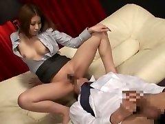 Amazing Chinese whore in Exotic Secretary, Rubdown JAV clip