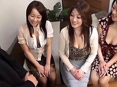 Japanese AV Models hot mature women in CFNM group activity