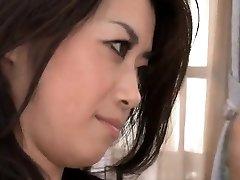 Sayuri Shiraishi rides a monstrous stiff cock