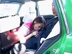 Super-naughty Japanese girl Hime Orihara in Incredible Blowjob, Car JAV clip