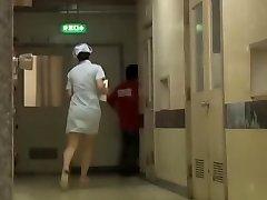 Naughty Asian bottom sharking for the hospital nurse