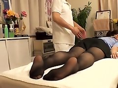 Cutie with hairy puss visits her therapist and gets fingered