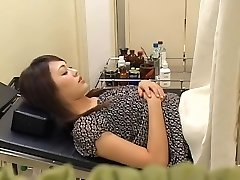 Uber-cute hairy Japanese broad gets plumbed by her gynecologist