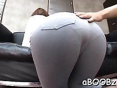 Japan maid with big funbags gets knob in all her wet fuckholes