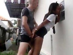 Milky guy fucks his asian maid