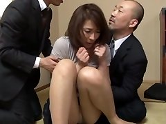 Hisae Yabe hot mature stunner in mmf group action