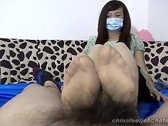 asian double footjob