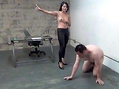 asian boss ball busting slave