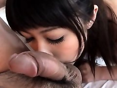 Oriental babe is having horny fun eating a lusty wang
