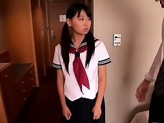 Japanese college girl Airi Sato pounded by older male