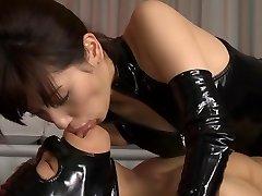 Horny Japanese hoe Miyuki Yokoyama in Greatest fetish, latex JAV scene
