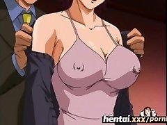 Hentai.xxx - Buxom MILF'S First 3some