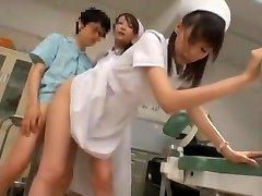 الغريبة اليابانية نموذج Yuria شيما ، أزوسا إيتو في أفضل ممرضة JAV المشهد