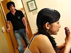 Emiko Koike in Emiko Koike is fucking her step-sonnie and his best pal - AviDolz