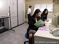 School teachers in pantyhose footjobs three-way