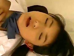 Ultra-cute Oriental Schoolgirl Fingered and Screwed