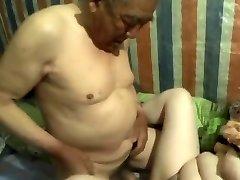 chinese grandpa cum inside grandmother