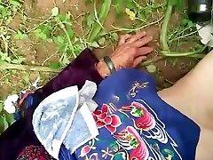 chinese grandma in nature