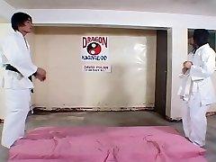 Sizzling Asian dojo work out