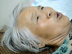 Chinese Grannie With Painful Orgasm