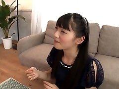 Shy Asian Tongues a Ton of Cum