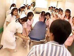 Asian nurses in a super-steamy gangbang