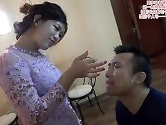 Chinese female dom spit on face