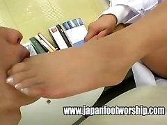 Japanese women doctors pantyhose soles