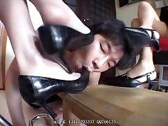 Japanese Femdom feet trample worship shoes barefoot kicking ball busting s&m