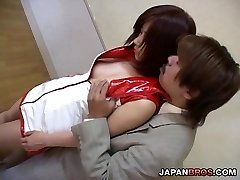 Japanese ultra-cute displaying and caressing her camel toe pussy