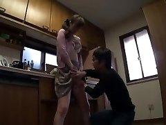 mother teaches stepson to make enjoy