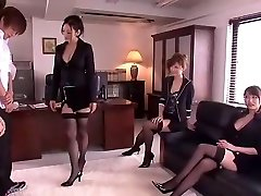 Crazy Japanese gal Leila Aisaki, Akari Hoshino, Risa Murakami in Horny Undergarments, Fetish JAV movie