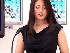 Yuria Ashina, Risa Murakami, Kyoka Mizusawa, ASUKA Two in Fantastic Announcer Upskirt part 4