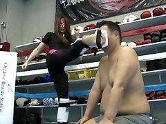 Japanese domme Kaede kickboxing domination part 2