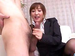 Mami Asakura office escapade with her chief