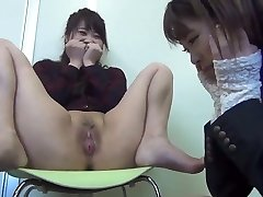 Japanese Girl Display Pussy to Her Friend