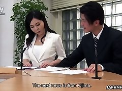 Muddy bang-out in the office is everything lustful Asian chick Miyuki Ojima needs everyday