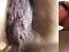 Asian bi-atch pees in toilet