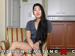 Asian lady gets fucked in both her holes well katana
