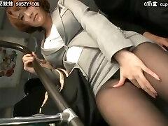 Japanese enjoy the boner in train