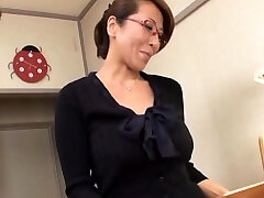 Raunchy japanese girlfriend with massive boobies fucked lad