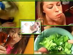 eating spunk in food - 1