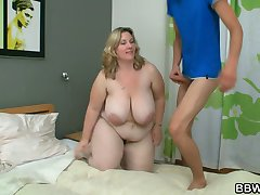 BBW gets pounded by horny burglar