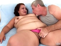 Fat woman takes fat cock