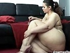 German BBW Pawg Samantha is taunting while she is smoking a ciggy