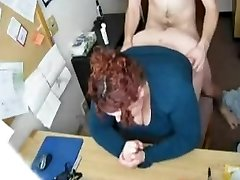 Smashing my Horny Fat BBW Secretary on Covert Cam