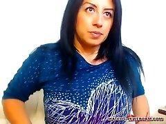 Hot Mexican milf warm creampie on webcam