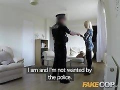 Fake Cop Superslut gets fucked by cop in her vapid