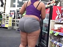Ample ghetto chick with a phat chunky booty