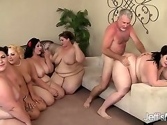 5 Insatiable BBWs fucked by 3 chisels